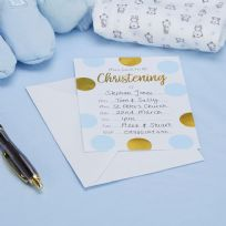 Pattern Works Blue Christening Invitations (10)